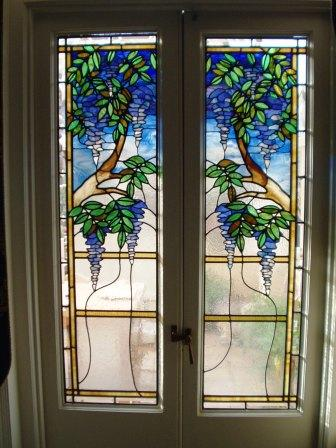 Wisteria stained glass window